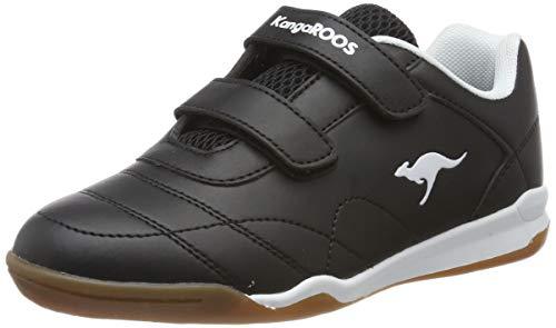 KangaROOS Unisex-Erwachsene Courtyard V Sneaker, Gelb (Jet Black/White 5012), 39 EU