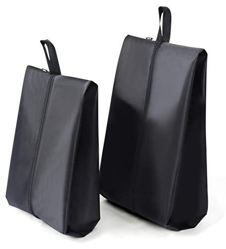 Eono by Amazon - 2-Pcs Bolsa de Zapatos Portátil Resistente al Agua para Organizador de Viaje para Zapatos a Prueba de Polvo (M+L (2 Piezas))