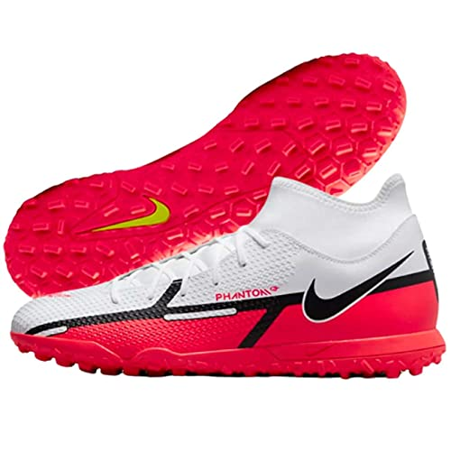 Nike Phantom GT2 Club Dynamic Fit TF, Zapatillas de ftbol Unisex Adulto, White Bright Crimson Volt, 46 EU