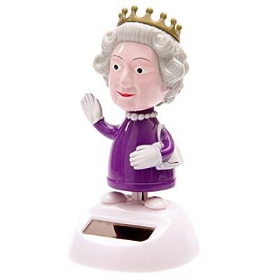 Puckator FF30 Solar-Powered Dancing Queen Ornament, 8 cm L x 8 cm W x 10 cm H, Purple