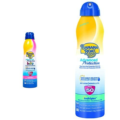 Banana Boat Crema Solar Bundle Para Bebé Y Adulto (Spray) Advanced Protection