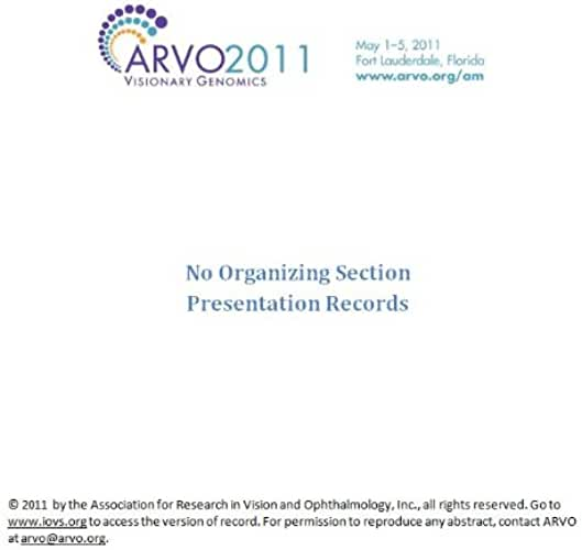 ARVO 2011 Annual Meeting - Section No Organizing Section (English Edition)