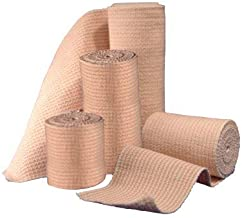"""Elastic Bandage Wrap with Hook and Loop Closure - Athletic Compression Tape - Latex Free Ankle Wrap - Bandage roll, for Sprains, Sports, First Aid Kit - (4"""" X 5 Yards) (4 Inch Wide, 1 Pack)"""