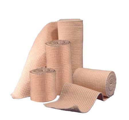 Elastic Bandage Wrap with Hook and Loop Closure - Athletic Compression Tape - Latex Free Ankle Wrap - Bandage roll, for Sprains, Sports, First Aid Kit - (4 X 5 Yards) (4 Inch Wide, 2 Pack)