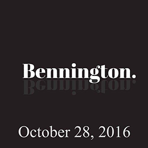 Bennington, October 28, 2016 audiobook cover art