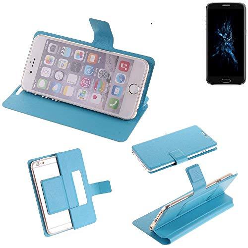 K-S-Trade® Flipcover Für Bluboo Edge Schutz Hülle Schutzhülle Flip Cover Handy Case Smartphone Handyhülle Blau