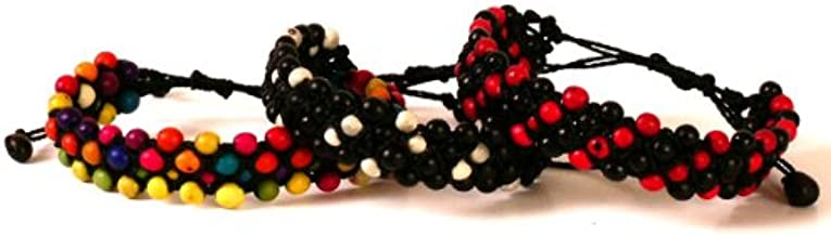 Three Fair Trade Amazon Acai Seed Beads Bracelets Pack