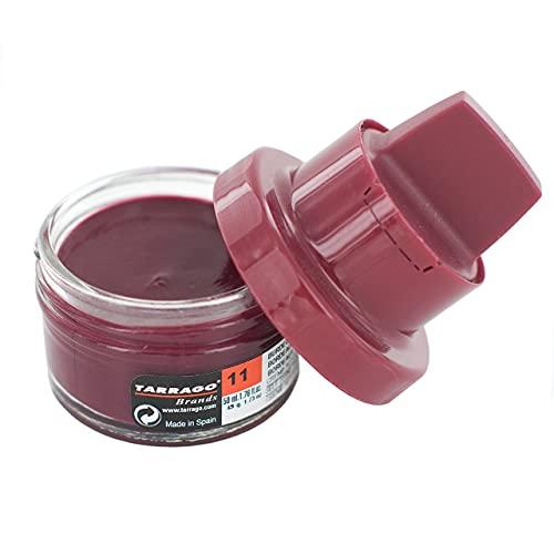 Tarrago   Self Shine Cream Kit 50 ml   Crema Nutritiva de Ceras Naturales Para Dar Brillo al Calzado de Piel, Cuero Liso, Natural o Sintético   Con Esponja Aplicadora (Burdeos 11)