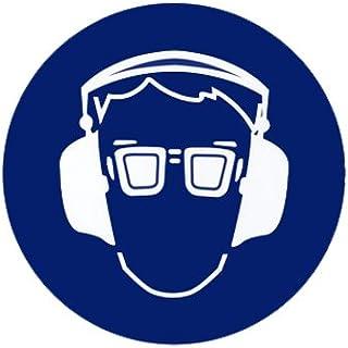 Augenschutz und Gehörschutz tragen  Gebotszeichen - Gebotsschild Kunststoff 200 mm