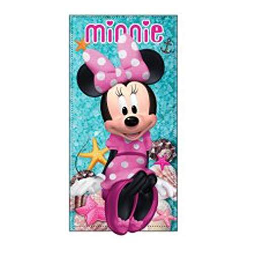 Telo Mare Minnie Love 70x140 cm 100% Poliestere Asciugamano asciuga Rapidamente