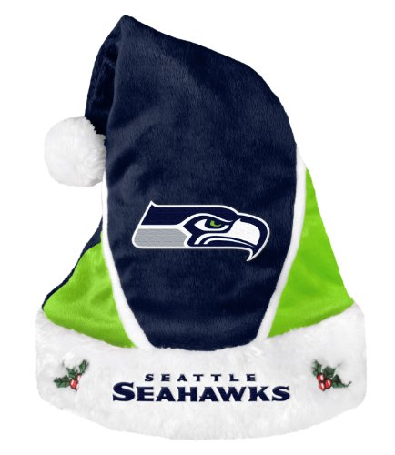 Seattle Seahawks 2014 Colorblock Santa Hat