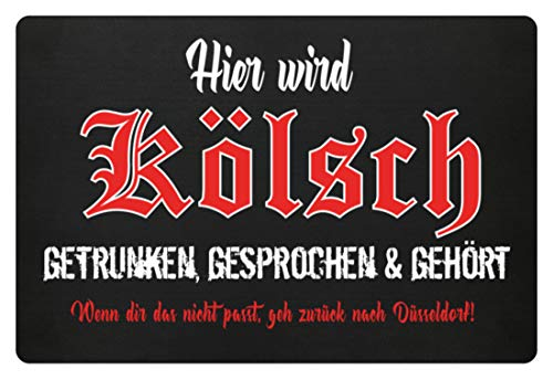 GetMerch Kölsch - getrunken, gesprochen & gehört Fußmatte - Fußmatte -60x40cm-Schwarz