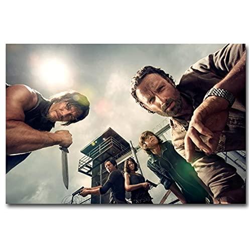 JLFDHR The Walking Dead Horror Carteles De Películas Clásicas E Impresión De Lienzo Pintura Pared para Sala De Estar Decoración del Dormitorio-60X80Cmx1 Sin Marco