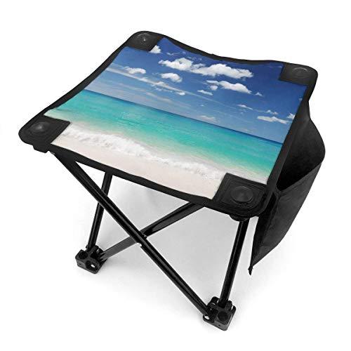End Nazi Tabouret de Camping chaises Pliantes Tropical Summer Beach Bleu Turquoise Blanc Siège de Chaise Portable