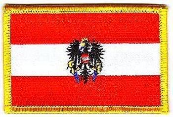 Flaggen Aufnäher Patch Österreich mit Wappen Fahne NEU by FahnenMax®