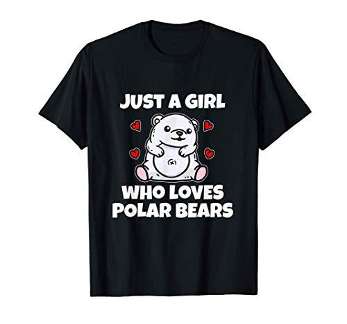Just A Girl Who Loves Polar Bears Disfraz De Oso Polar Camiseta