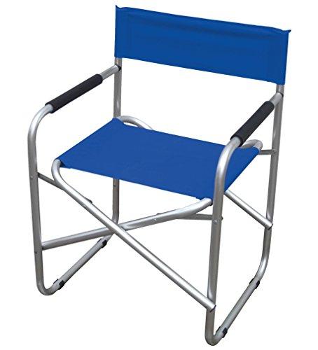 Sedia regista In alluminio e PVC 600d Colore blu.