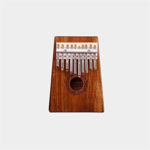 Kalimba, Daumenklavier 10/17 Tasten Kalimba Afrikanische aus Mahagoni Acacia Thumb Finger Piano Massivholz Kalimba Musikinstrument (Color : Acacia 10 keys)