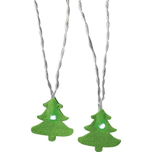 Polarlite Motiv-Lichterkette Weihnachtsbaum Innen batteriebetrieben 12 LED Grün Beleuchtete Länge: 1.32 m Po