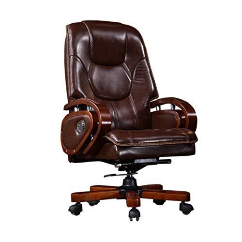 ZXNRTU Relájese cómodamente seguro Silla de la protuberancia, grabado acolchado con función de masaje silla giratoria, silla sillas Presidente silla del jefe Gerenciales silla de la computadora giro d