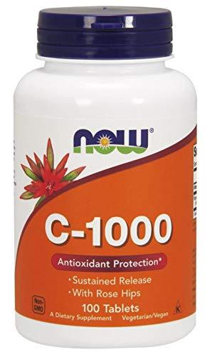 Now Foods Vitamina C-1000 con los escaramujos - Susteined Release - 100 tabletas 100 Unidades 200 g