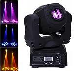 HOLDLAMP Teste Mobili Beam LED 60W DMX512 Luce da Palcoscenico 10 Effetto Luce Moving Head per DJ, Bar, Halloween, Natale, Matrimonio, Discoteca - Nero