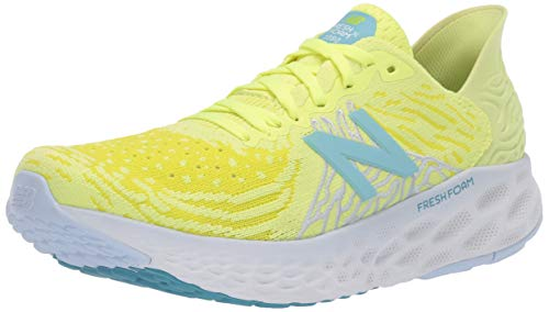 New Balance 1080v10 Fresh Foam, Zapatillas para Correr Mujer, Lemon Slush-Gafas de Sol, Color Amarillo azufre, 45.5 EU
