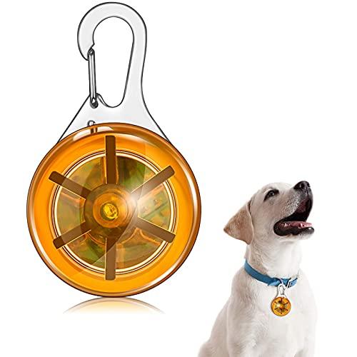 Chyang Collar de Mascotas LED Light Clip-on Pet Light Dogs and Cats Safety LED LED Luz Afile Impermeable Colgante para Noche Caminando Corriendo Equitación (Color : Orange )