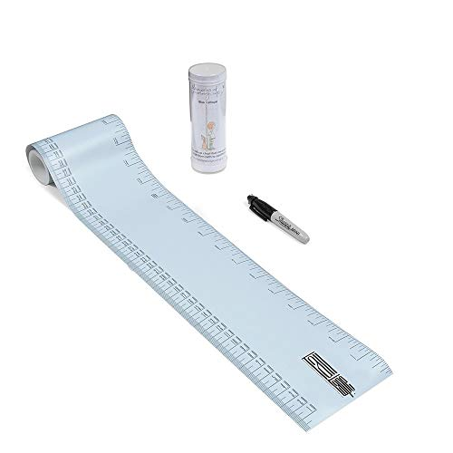 Talltape (Blau) - Tragbare, Roll-up Messlatte Plus 1 Sharpie Mini Marker Pen, um Kinder von der Geburt bis zum Erwachsenenalter messen zu können - Auswahl an Designs