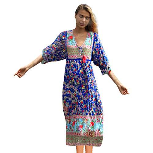 Auifor er 116 Blumen länge Abendkleider Abendkleid rückenfrei kurz rosa XL changjie beige Kleid...