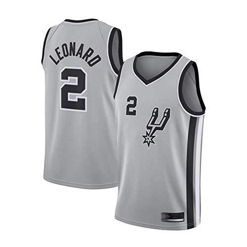 TGSCX Respirabile Freddo Allentato Pallacanestro Jersey, NBA Spurs 2# Leonard Classic Retro Fan Swingman Jersey, Vestiti di Sport Mesh Unisex,A,M