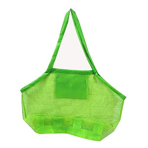 LAOLEE Bolsa de playa de malla extra grande para niños, suministros de piscina de arena, tamaño grande, almacenamiento de concha de secado rápido