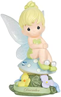 Precious Moments, Disney Showcase Collection, December Fairy As Tinker Bell, Blue Topaz, Resin Figurine, 113219