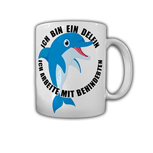 Ich bin ein Delfin ich arbeite mit Behinderten Büro Humor Fun Kaffee #27786