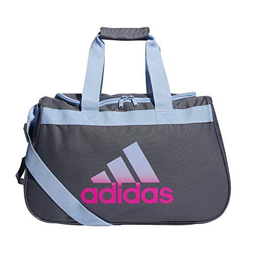 adidas Unisex Diablo Small Duffel Bag, Onix/Glow Blue/Shock Pink, ONE SIZE
