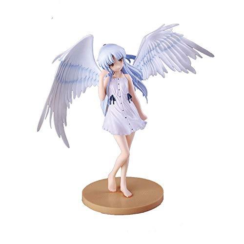Angel Beats! Figura de acción Figura de Tachibana Kanade de 5.9 pulgadas, Versión de ángel, Cabeza y ala desmontables, Postura de pie, Material de PVC Modelo de chica linda de Anime para adornos