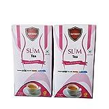Nutrust Slim Green Tea pack of 2 with Garcenia and Probiotic lemon flavor