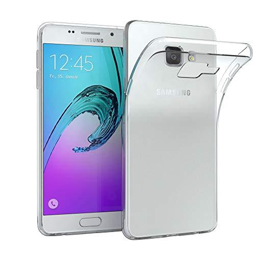 EAZY CASE Hülle kompatibel mit Samsung Galaxy A3 (2016) Schutzhülle Silikon, Ultra dünn, Slimcover, Handyhülle, Silikonhülle, Backcover, Durchsichtig, Klar Transparent