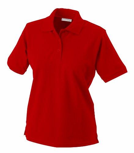 James & Nicholson Damen Ladies' Polo Poloshirt, Rot (rot), Medium