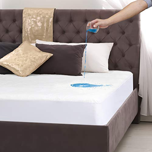 Vipoo Full Size Mattress Cover Waterproof Mattress Protector, Hypoallergenic, Cotton, Breathable Mattress Protectors Mattress Cover