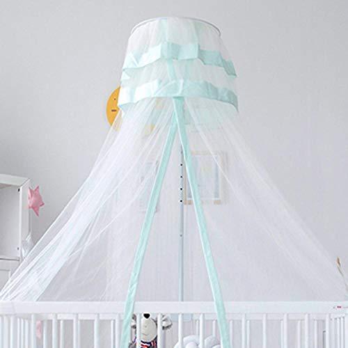 Rund Insektenschutz Kinder,Moskitonetz Babybett,Verstellbarer Etagenbettmantel,5 Stufen verstellbar,blau,Betthimmel Kinder