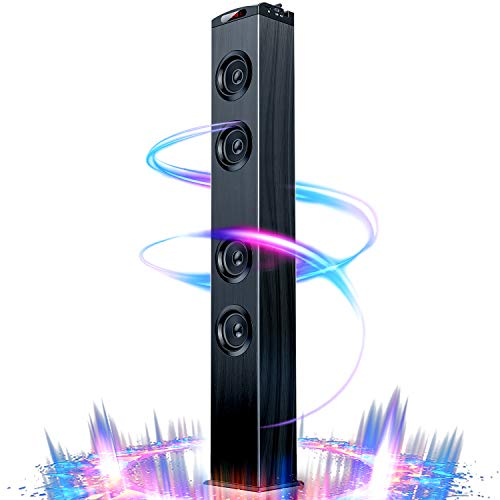 Floor Standing Bluetooth Tower Speaker, Floor Speakers for Home Stereo System, Floor Standing Speakers Home Theater, VENLOIC Bluetooth Tower Speakers with Bass