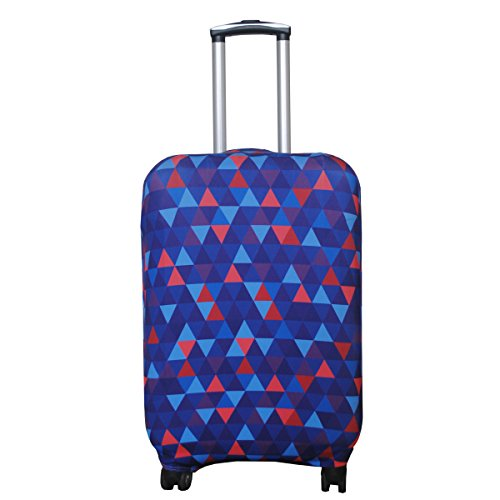 Explore Land Travel Luggage Cover Suitcase Protector Fits 18-32 Inch Luggage (Mosaic, L(27-30 inch Luggage))
