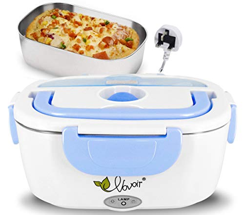 Electric Lunch Box Heating Lunch Box Food Warmer Lunch Box with 1.5L Detachable Stainless Steel Food Container 220V UK Plug, 40W, Only for Home 220V UK Plug
