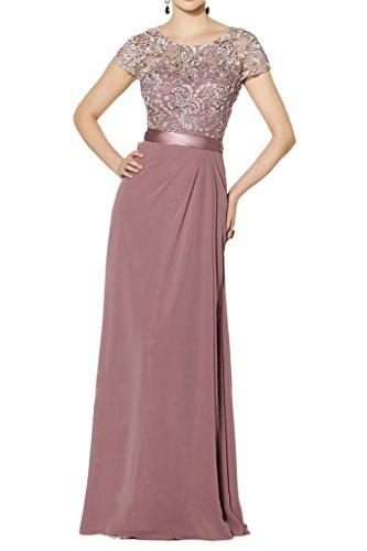 Promgirl House Damen Elegant Spitze A-Linie Abendkleider Brautmutter Ballkleider Lang mit Aermel-44 Alterosa