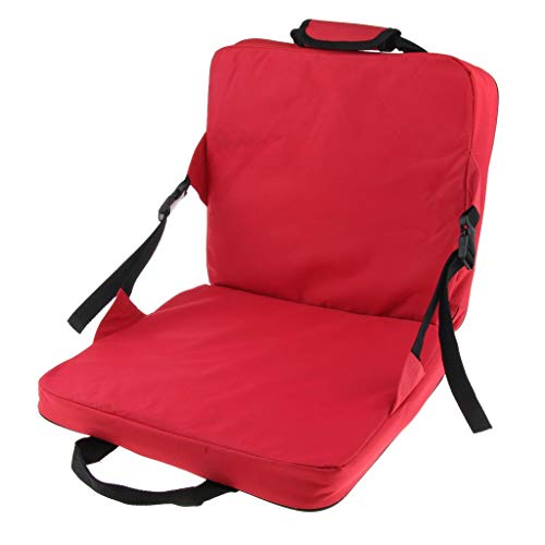 perfk Rot Farbige Faltbarer Im Freien Kampierender Fischenstrand Weicher Stuhlstadion-Sitzkissen