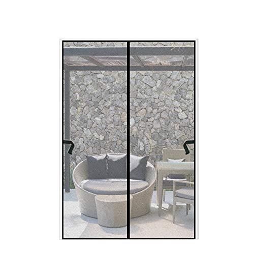 Magnetic Screen Door 72 x 83 inch, CHUSSTANG Heavy Duty French Door Mesh Curtain Magnet Patio Door Cover Auto Closer Sliding Door Screen Door with Full Frame Hook
