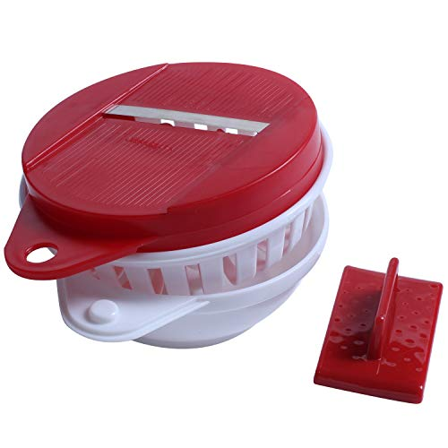 JVSISM DIY Forno A Microonde Patatine Fritte Fatte in Casa Macchina Maker Dispositivo Frutta Affettare Tagliare Il Filtro