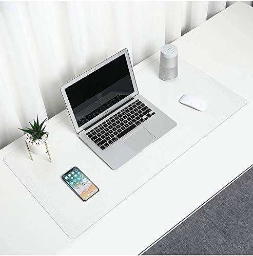 Alfombrilla de escritorio transparente, 100 x 50 cm, antideslizante, impermeable, PVC, doble uso, bordes redondos, protector de mesa para oficina, hogar, escuela, escritorios 50*100cm