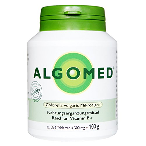 Algomed - Chlorella vulgaris microalgas - 100 g/aprox. 334 tabletas de Chlorella